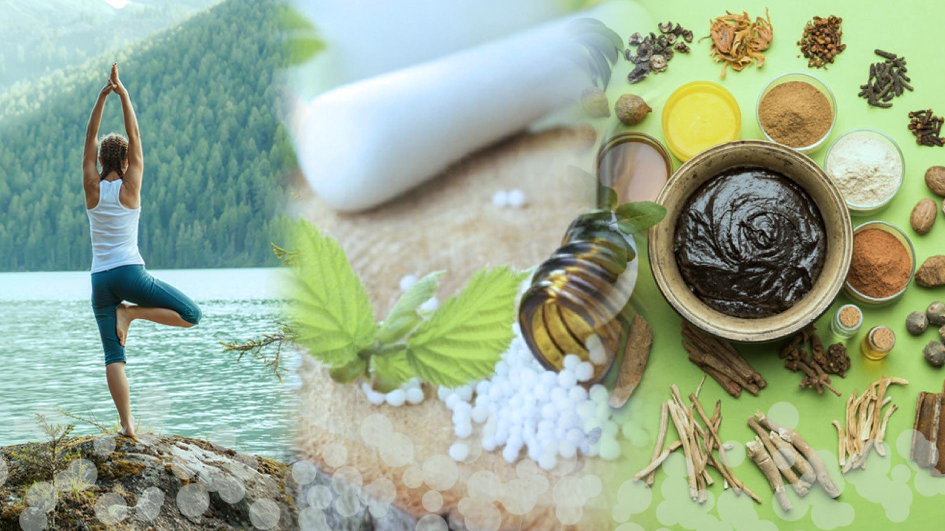 Yoga ayurveda homeopathy infoceuticals